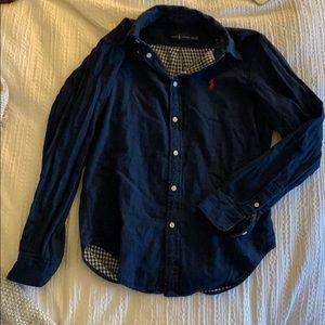 Navy Blue Ralph Lauren button-up sz medium